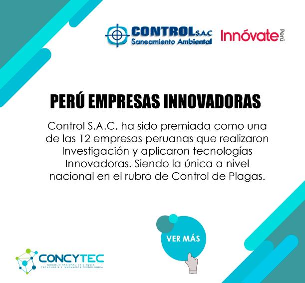 CONCYTEC – Reconocimiento a Control S.A.C como empresa innovadora
