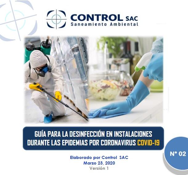 Guía 2: Desinfección en instalaciones durante epidemias COVID-19