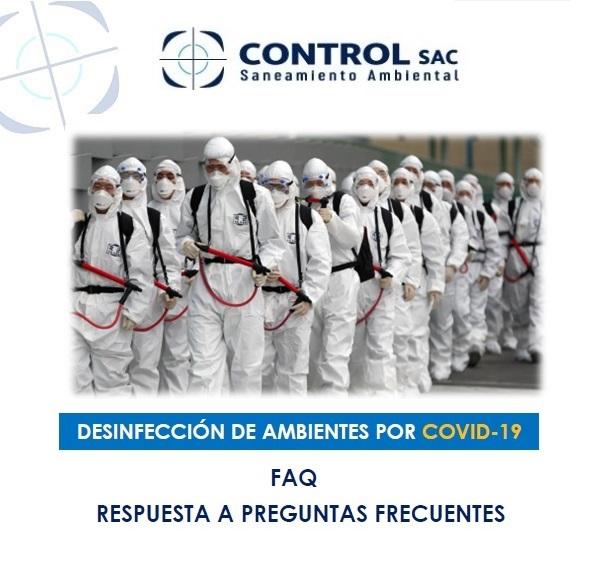 Preguntas y Respuestas sobre Desinfección por COVID-19
