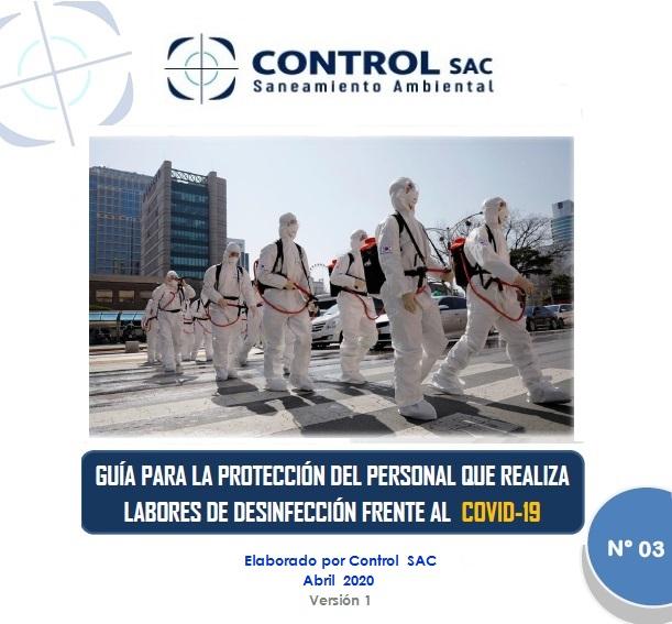 Guía 3: EPP para personal de desinfección frente a COVID-19